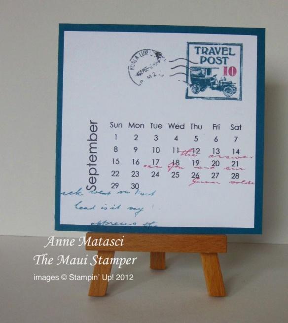 Maui Stamper 2013 Calendar September