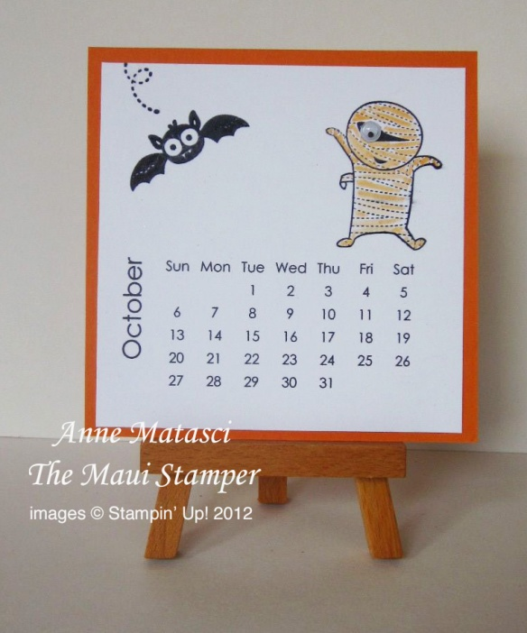 Maui Stamper 2013 Calendar October