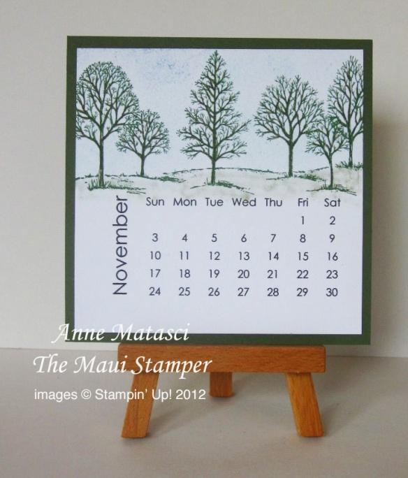 Maui Stamper 2013 Calendar November