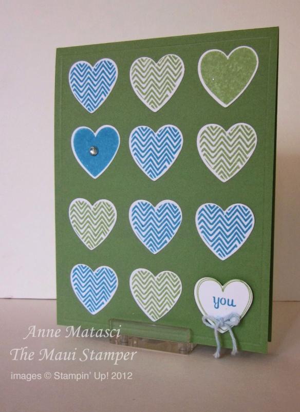 Maui Stamper Hearts a Flutter card