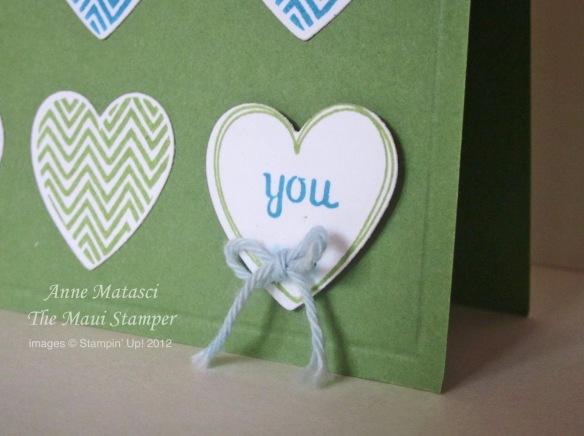 Maui Stamper Hearts a Flutter detail