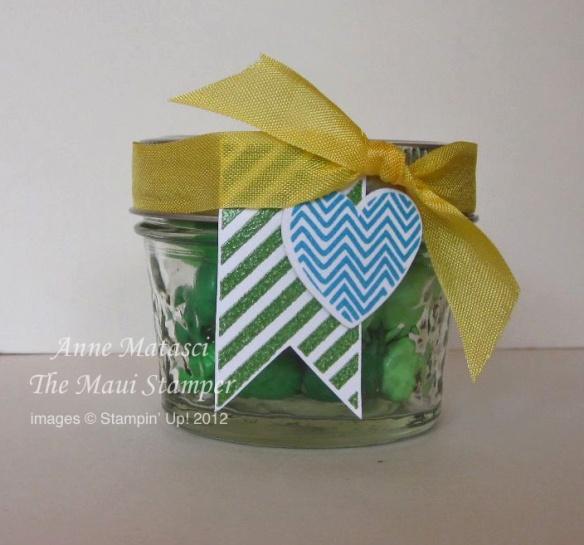 Maui Stamper Hearts a flutter favor jar