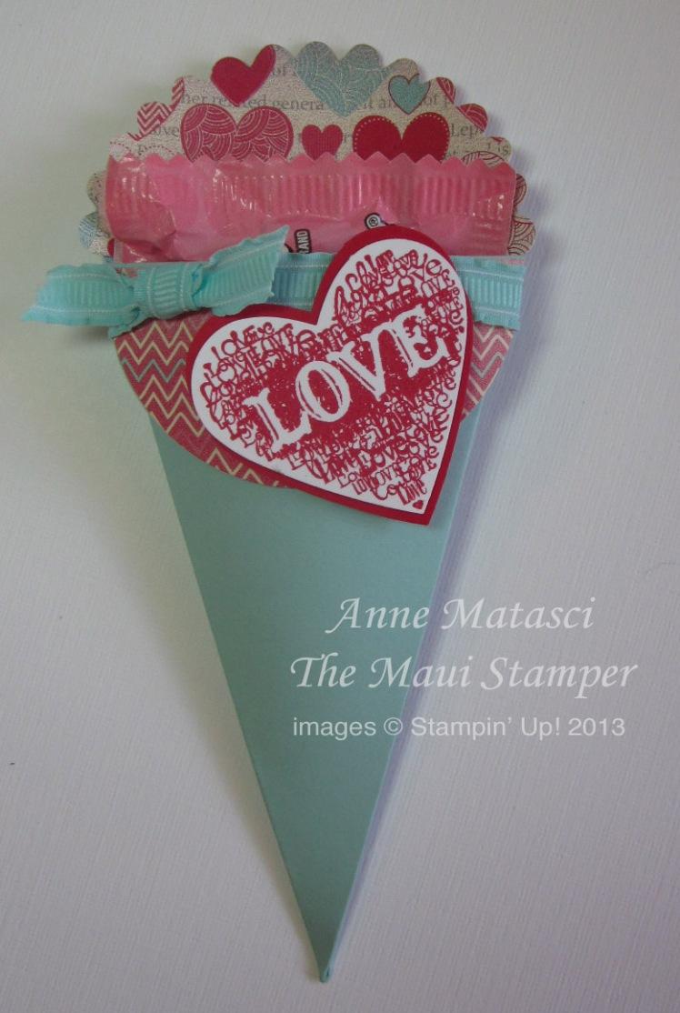 Maui Stamper More Amore Petal Cone Valentine