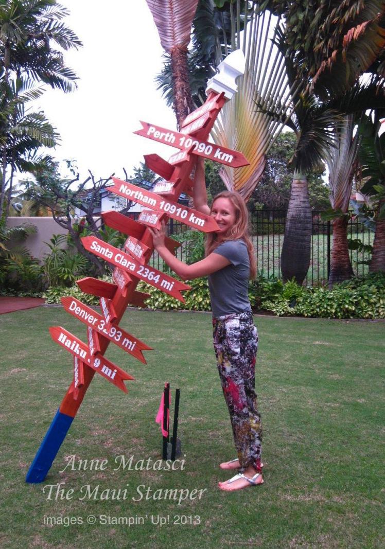Maui Stamper Wedding Destinations Sign
