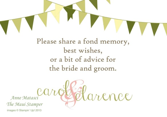 Maui Stamper MDS Wedding Memories Table Sign