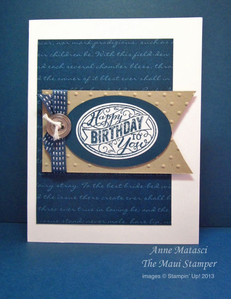 Maui Stampers Best of Birthdays Anniversary Stamps