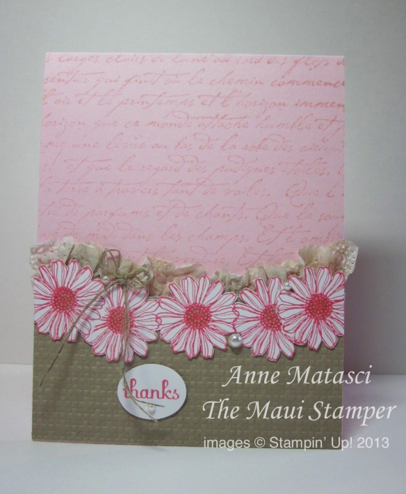Stampin' Up! Maui Stamper Best of Flowers 25th Anniversary