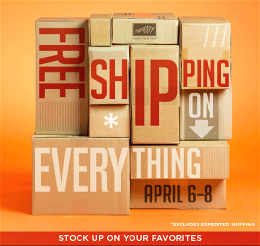 Stampin' Up! 2013 Free Shipping