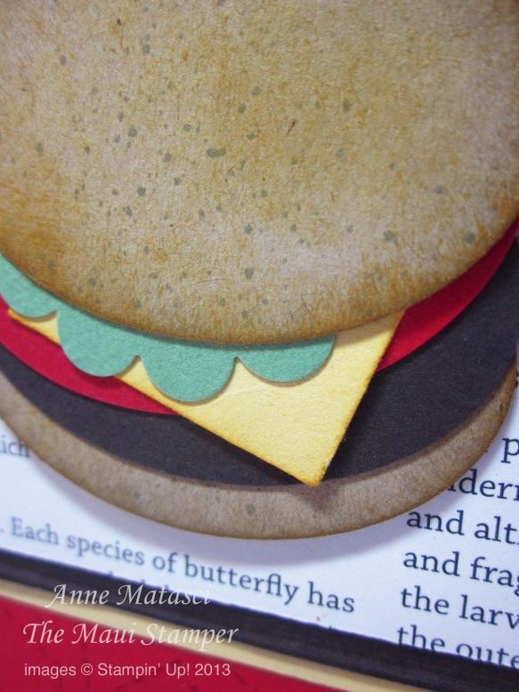 Stampin' Up! Maui Stamper Manly Burger Card