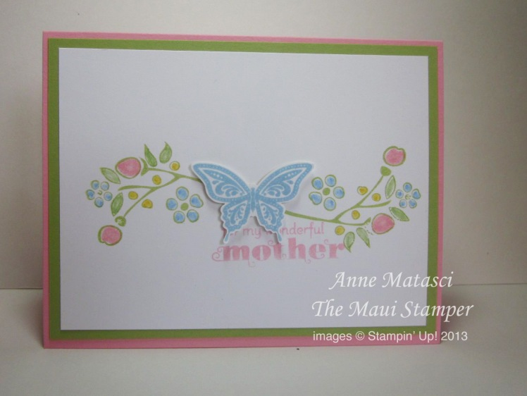 Maui Stamper Elegant Butterfly Mother's Day