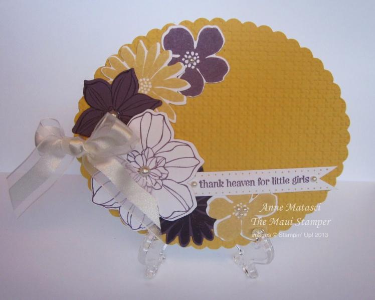 Maui Stamper Secret Garden Baby Girl card