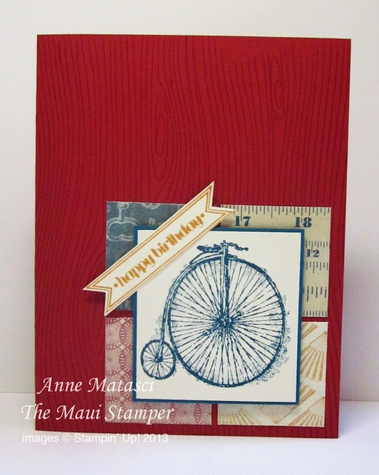 Maui Stamper Manly Card Class Feeling Sentimental