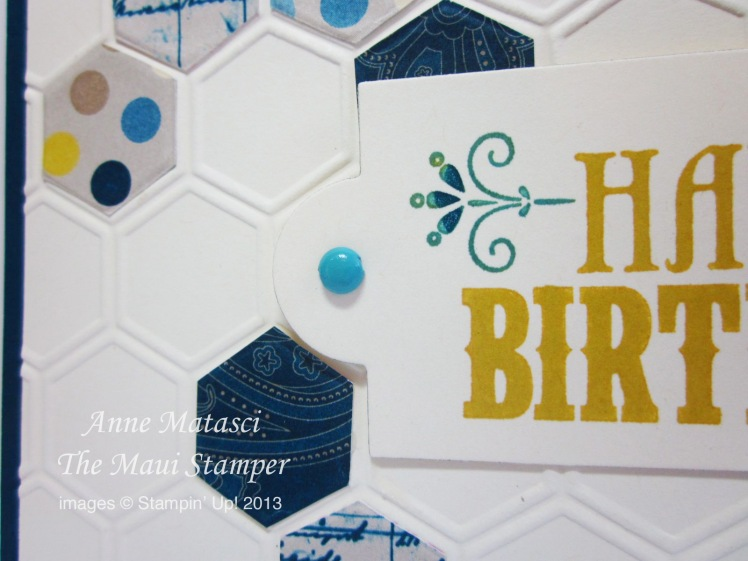 Maui Stamper Manly Honeycomb Birthday
