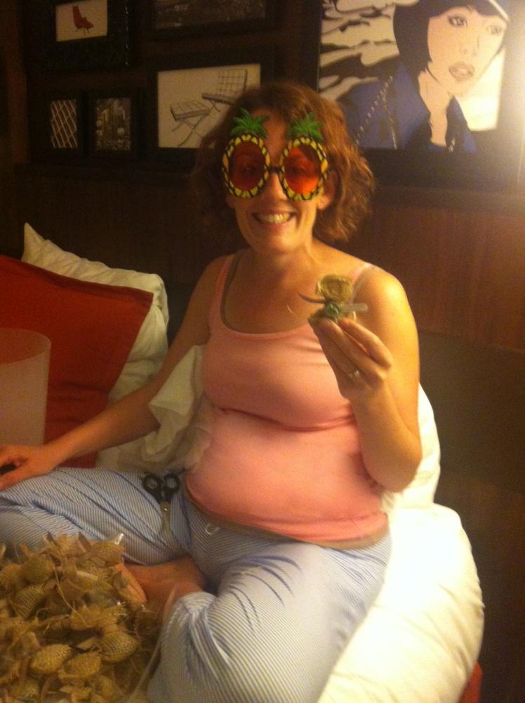 Maui Stamper prepping Hershey Macnut Kiss swaps SLC