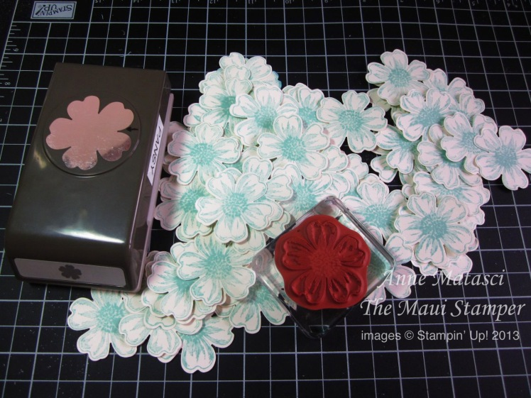 Stampin' Up! Maui Stamper Flower Shop Plenty Pansies