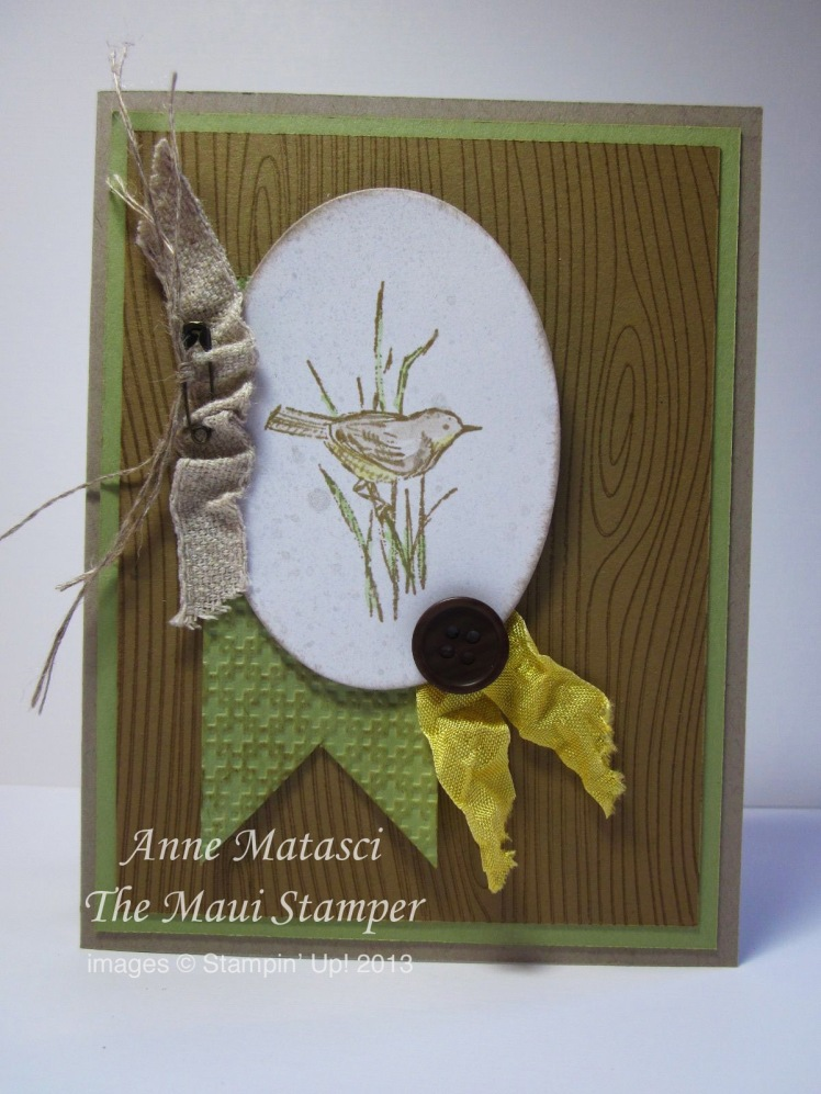 Stampin' Up! Maui Stamper Simply Sketched Songbird