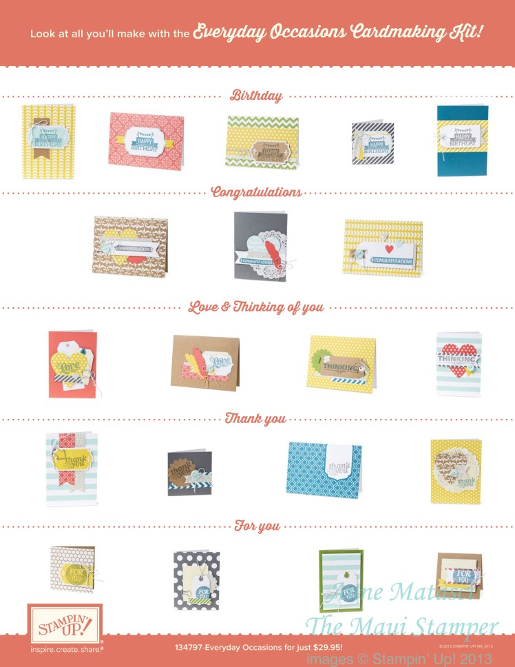 Maui Stamper Everyday Occasions Cards