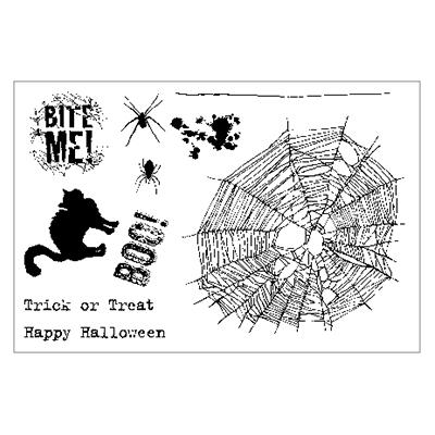 Maui Stamper Halloween stamps spider web