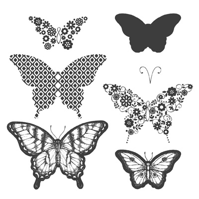 Maui Stamper Papillon Potpourri stamp set