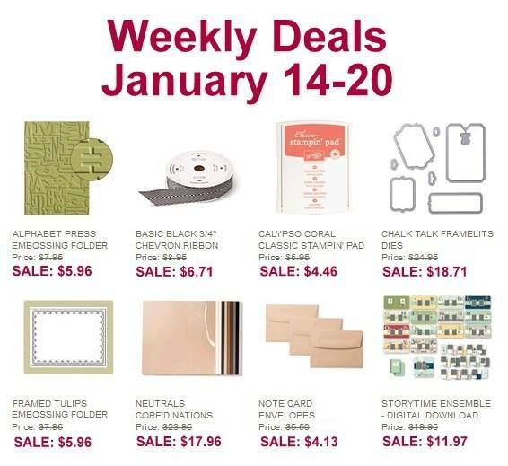 Maui Stamper Stampin' Up! Weekly Deal January 14 to 20 2014