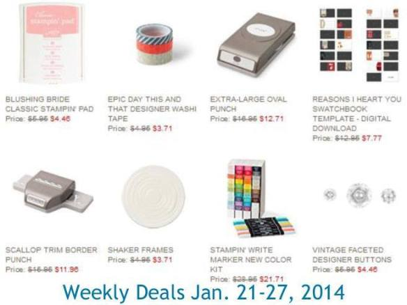 Maui Stamper Stampin' Up! Weekly Deal January 21-27 2014