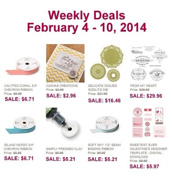 Maui Stamper Stampin' Up! Weekly Deal Feb 4-10 2014
