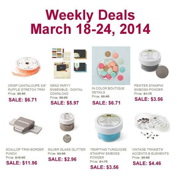 Maui Stamper Stampin' Up! Deals March 18-24 2014