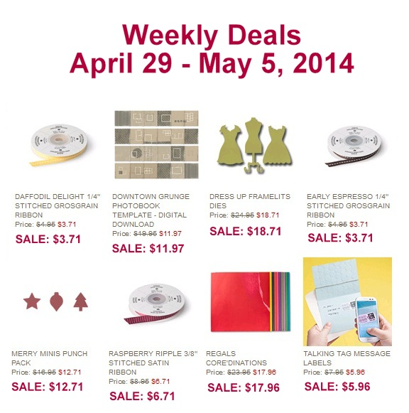 Maui Stamper Weekly Deal April 25-May 5 2014
