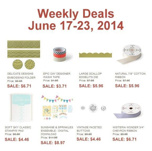 Maui Stamper July 17-23 2014 Stampin' Up! Weekly Deal