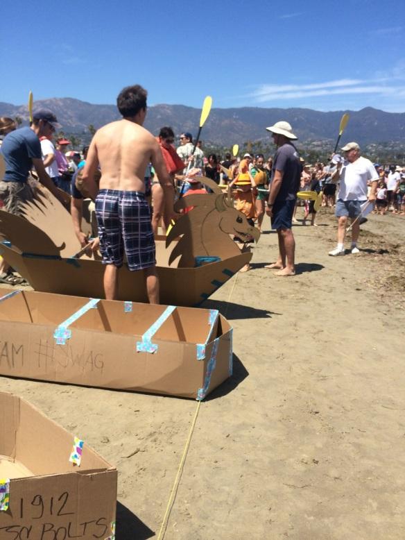 Maui Stamper Cardboard Canoe Races East Beach Santa Barbara