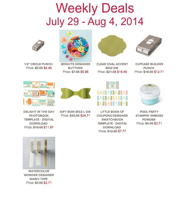 Maui Stamper Weekly Deals July 29 - August 4, 2014