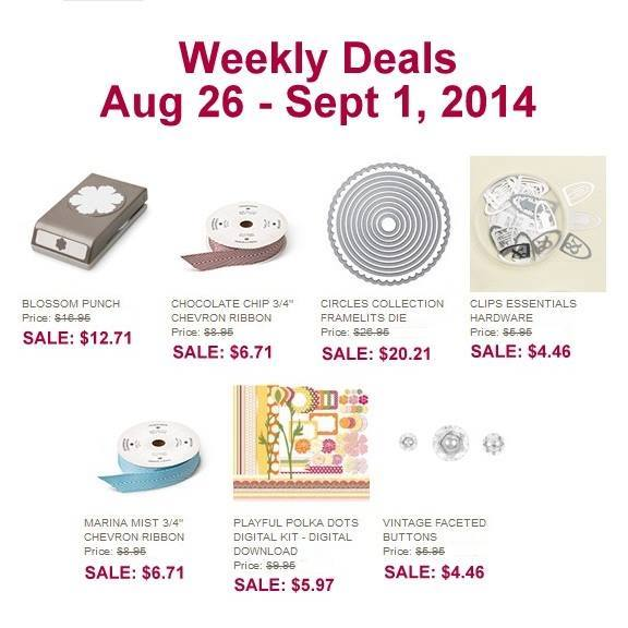 Maui Stamper Weekly Deals August 26 to Sept 1, 2014