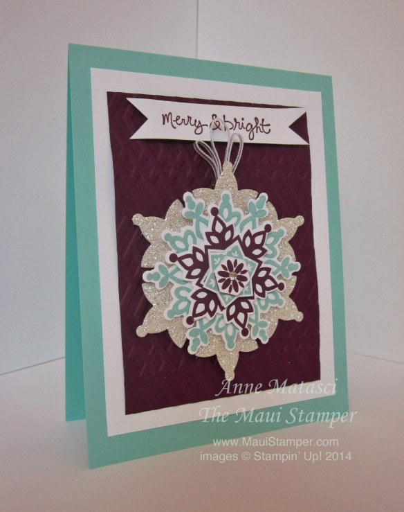 Maui Stamper Festive Flurry stamps and framelits available until August 27, 2014