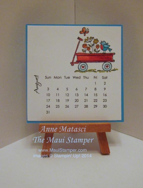 Diy Easel Calendar : August diy easel calendar for the birds maui