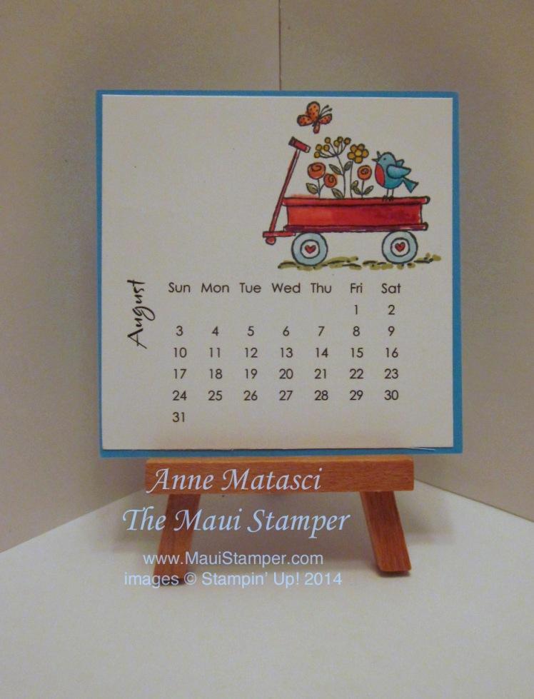 Maui Stamper 2014 August DIY Easel Calendar For the Birds