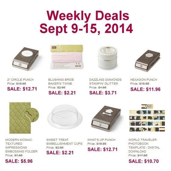 Maui Stamper Weekly Deals September 9 to 15, 2014