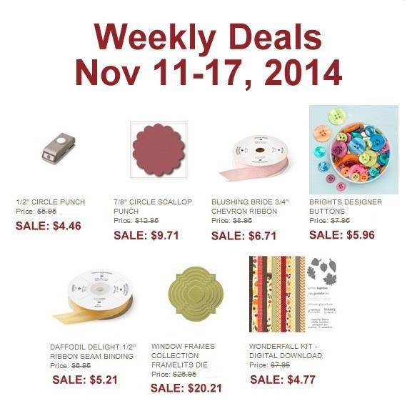 Maui Stamper Weekly Deals Stampin' Up! November 11-17, 2014