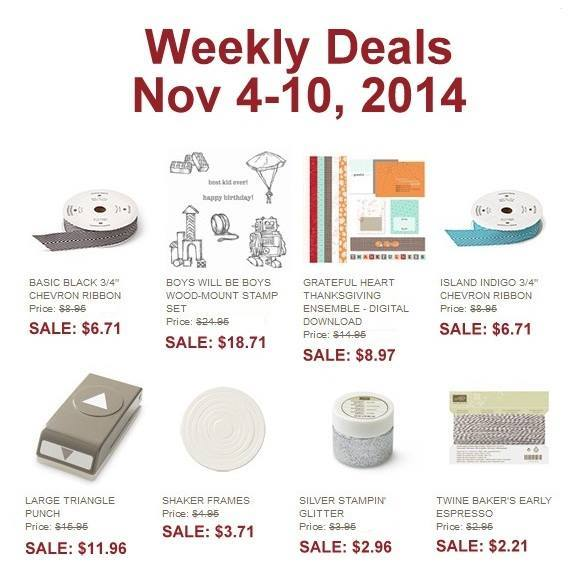 Maui Stamper Weekly Deals November 4-10, 2014