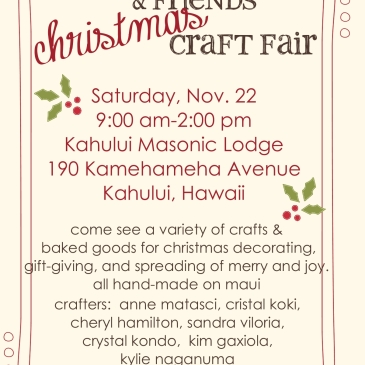 Maui Stampers craft fair November 22, 2014