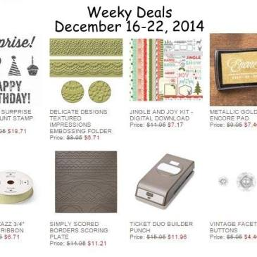 Maui Stamper Weekly Deals December 16-22, 2014