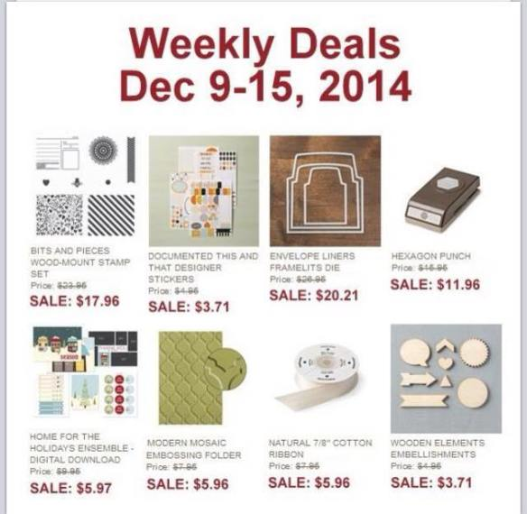 Maui Stamper Stampin' Up! Weekly Deals December 9-15, 2014