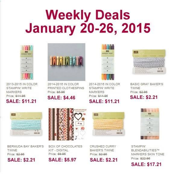Maui Stamper Stampin' Up! Weekly Deals January 20-26, 2015