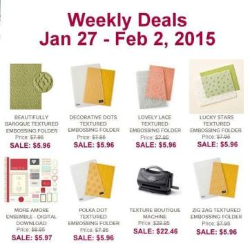 Maui Stamper Stampin' Up! Deals January 27 - February 2, 2015