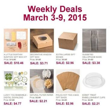 Maui Stamper Weekly Deals March 3-9, 2015