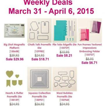 Maui Stamper Weekly Deals march 31 to April 6 2015