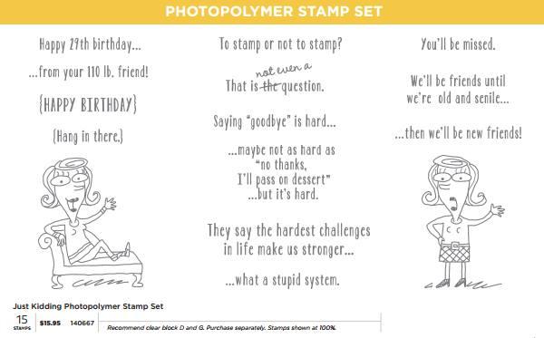 Maui Stamper Just Kidding Stampin' Up! Photopolyner
