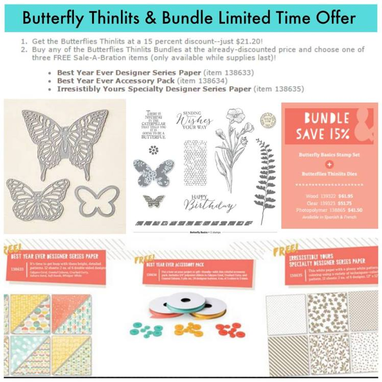 Maui Stamper Butterfly Thinlit and Bundle Offer thru 4-30-15