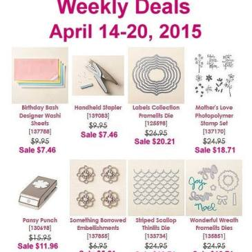Maui Stamper Weekly Deals April 14-20, 2015