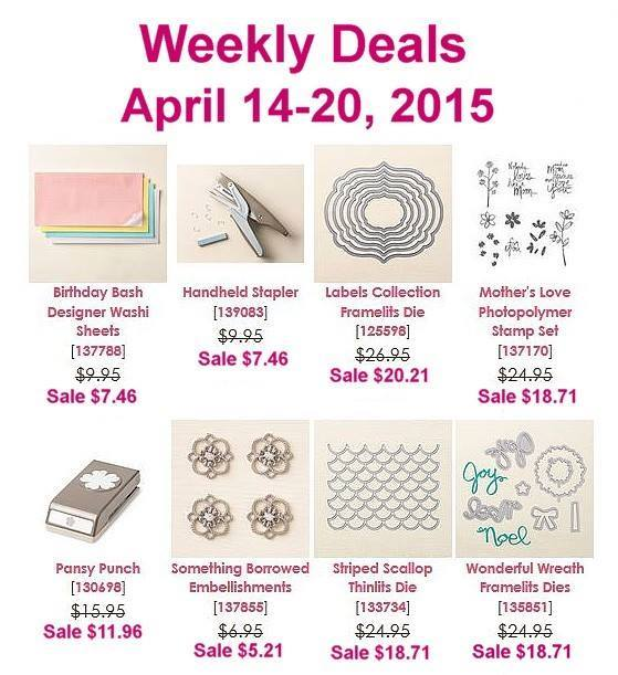 Maui Stamper Weekly Deals April 14-20, 2015