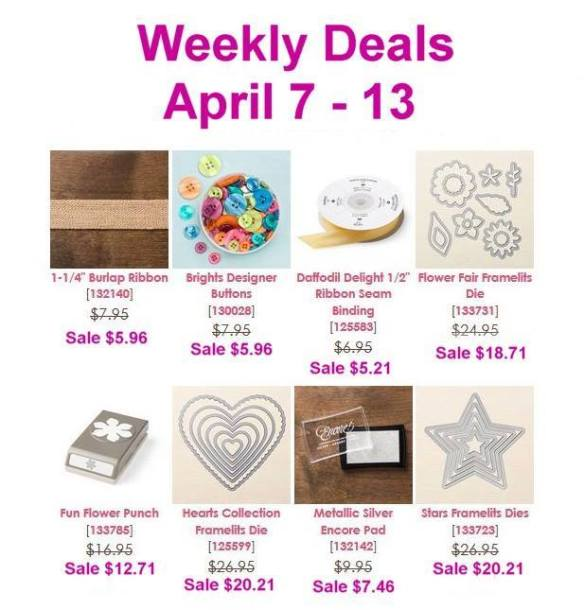 Maui Stamper Weekly Deals April 7 - 13, 2015